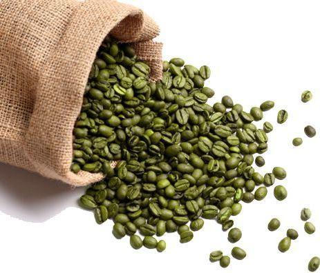zöld kávé bab