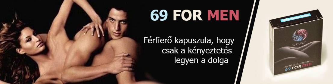 69 for Men potencianövelő kapszula